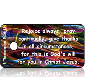 ScriptureTagD120 - NIV - 1 Thessalonians 5 vs 16-18 - Colorful Sound Waves