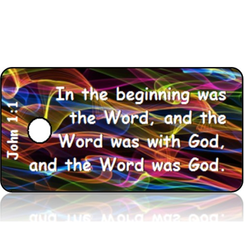 ScriptureTagD121 - KJV - John 1 vs 1 - Colorful Sound Waves