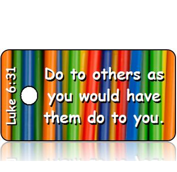 ScriptureTagD123 - NIV - Luke 6 vs 31 - Colorful Straws