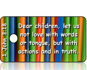 1 John 3:18 Bible Scripture Tags