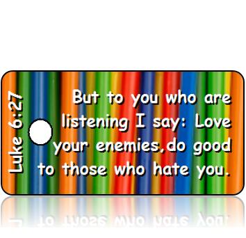 ScriptureTagD126 - NIV - Luke 6 vs 27 - Colorful Straws
