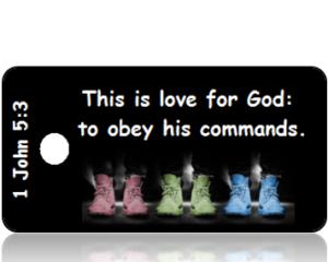1 John 5:3 Bible Scripture Tags