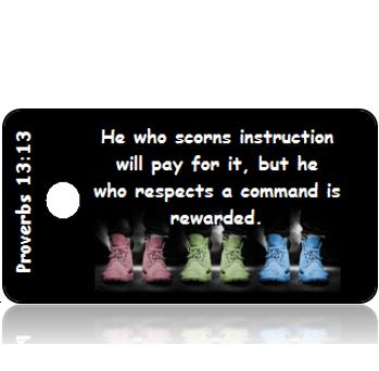 ScriptureTagD131 - NIV - Proverbs 13 vs 13 - Pastel Shoes