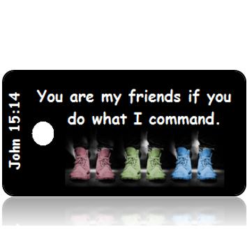 ScriptureTagD132 - NIV - John 15 vs 14 - Pastel Shoes