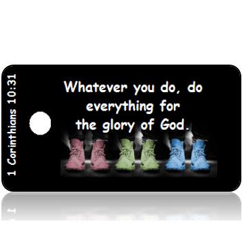 ScriptureTagD134 - NIV -1 Corinthians 10 vs 31 - Pastel Shoes