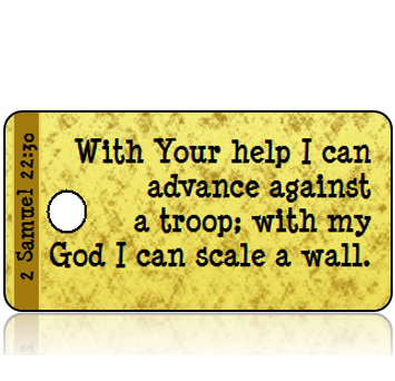 2 Samuel 22:30 Bible Scripture Tags