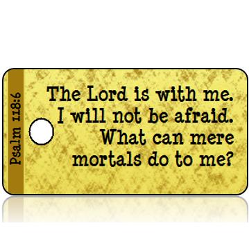 ScriptureTagD138 - NIV - Psalm 118 vs 6 - Gold Foil Paper
