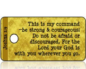Joshua 1:9 Bible Scripture Tags