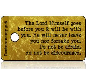 Deuteronomy 31:8 Bible Scripture Tags