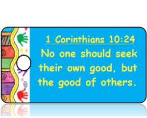 1 Corinthians 10:24 Bible Scripture Tags