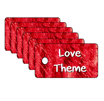 Vacation Bible School Love Theme Scripture Tags