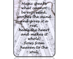 Musical Quote Bag Tag