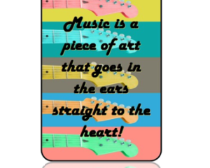 Musical Quote Guitars Bag Tag