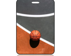Basketball Court Background Sports Bag Tag