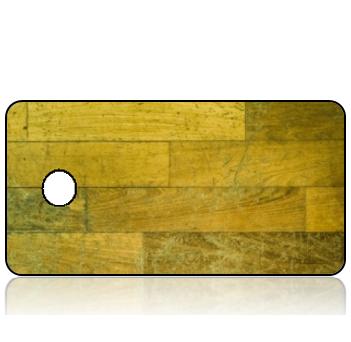BuildITB79 - BuildIT - Reclaimed Wood Yellow Hues Design Key Tag