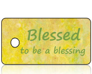 Blessed to Be a Blessing Inspiration Key Tag
