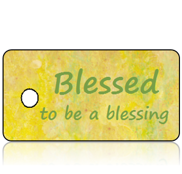 Inspiration23 - Blessed to be a blessing - Yellow Green Marble