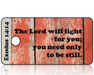 Exodus 14 vs 14 Reclaimed Wood Bible Scripture Tag