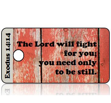 ScriptureTagD161 - Exodus 14 vs 14 - Reclaimed Wood Red Hues