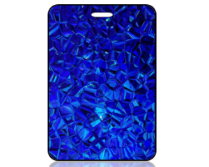 Create Design Bag Tag Blue Geometric Background