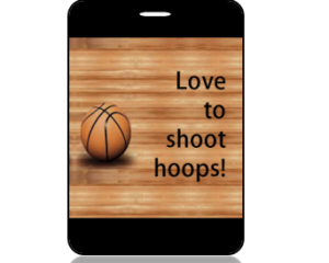 Love to Shoop Hoops Basketball Bag Tag - Main Image