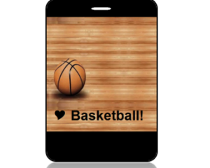 I Love Basketbll Bag Tag - Main Image