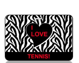 I Love Tennis Bag Tag - Main Image