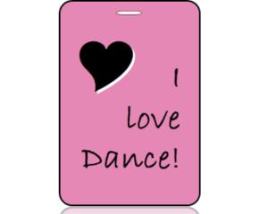 I Love to Dance Bag Tag - Main Image