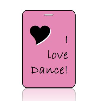 BagTagL01 - I Love to Dance Bag Tag - Main Image