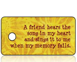 Celebrate Friends Key Tag - Golden Sunflowers