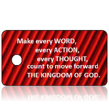 Inspiration27 - Make every word....The Kingdom of God - Red Black Horizontal Stripes