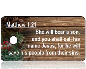 Matthew 1 vs 21 Christmas Holiday Tag