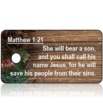 ScriptureTagC20 - Matthew 1 vs 21 Christmas Holiday Tag