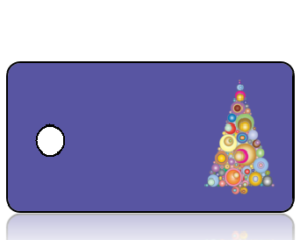 Create Design Holiday Key Tag Modern Christmas Tree