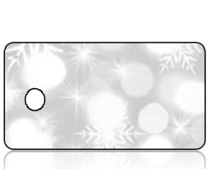 Create Design Holiday Key Tag Modern Snowflakes on Gray Background