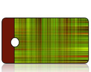 Create Design Holiday Key Tag Green Brown Plaid