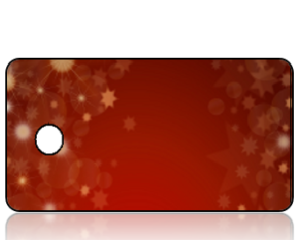 Create Design Holiday Key Tag Red with Gold Star Bursts