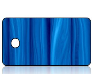 Create Design Holiday Key Tag Modern Blue Wood Panel