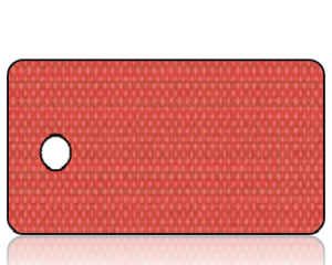 Create Design Holiday Key Tag Red Linen