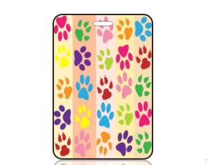 Create Design Paw Prints Bag Tag