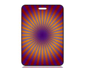 Create Design Purple Orange Starburst Bag Tag
