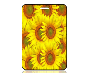 Create Design Sunflowers Bag Tag
