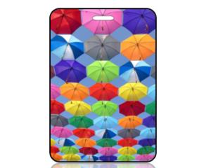 Create Design Umbrellas in the Sky Bag Tag