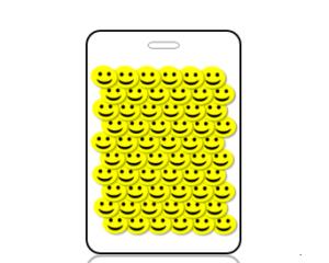 Create Design 3D Yellow Smiley Faces Bag Tag