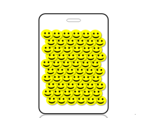 Create Design 3D Yellow Smiley Faces Bag Tag