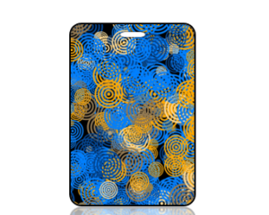 Create Design Blue Orange Circles Bag Tag
