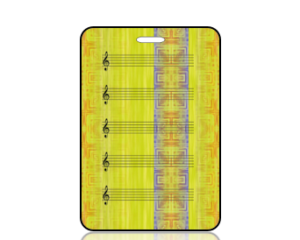 Create Design Clefs on Yellow Green Background