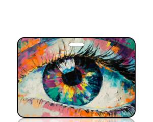 Create Design Modern Art Eye Bag Tag