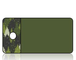 Create Design Forest Green Tree Border Key Tag