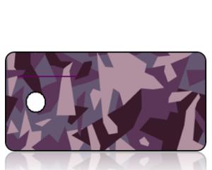 Create Design Purple Camouflage Key Tag